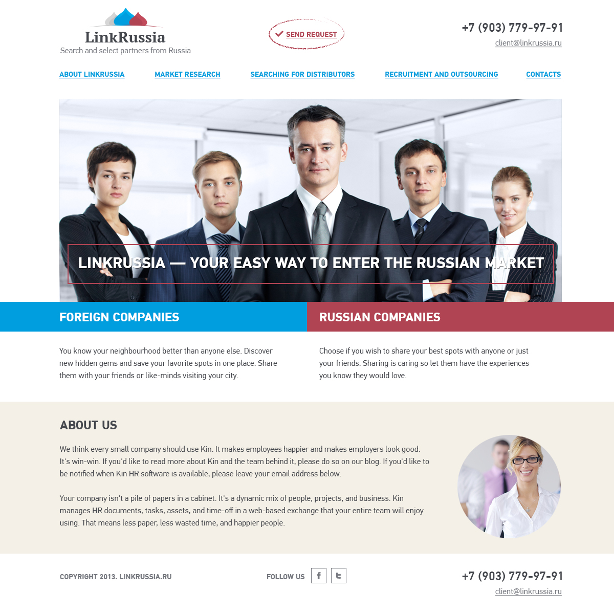 LinkRussia - easy way to enter the Russian market